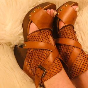 Free people clog leather Booties